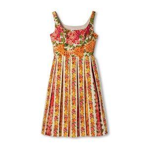 Floral Print Pleated Dress - sz M - Isaac Mizrahi